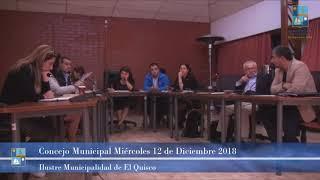 Concejo Municipal Miércoles 12 de Diciembre 2018   El Quisco