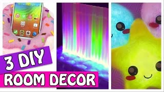 3 DIY ROOM DECOR - LIGHT PILLOW, LED LAMP AND PHONE HOLDER - Innova Crafts (compilation)