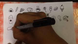 สอนวาดรูป อาหารแบบง่ายๆ