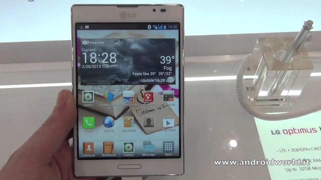 Lg optimus vu ii f200 full phone specifications - Lg Optimus Vu Ii Anteprima In Italiano By Androidworld It