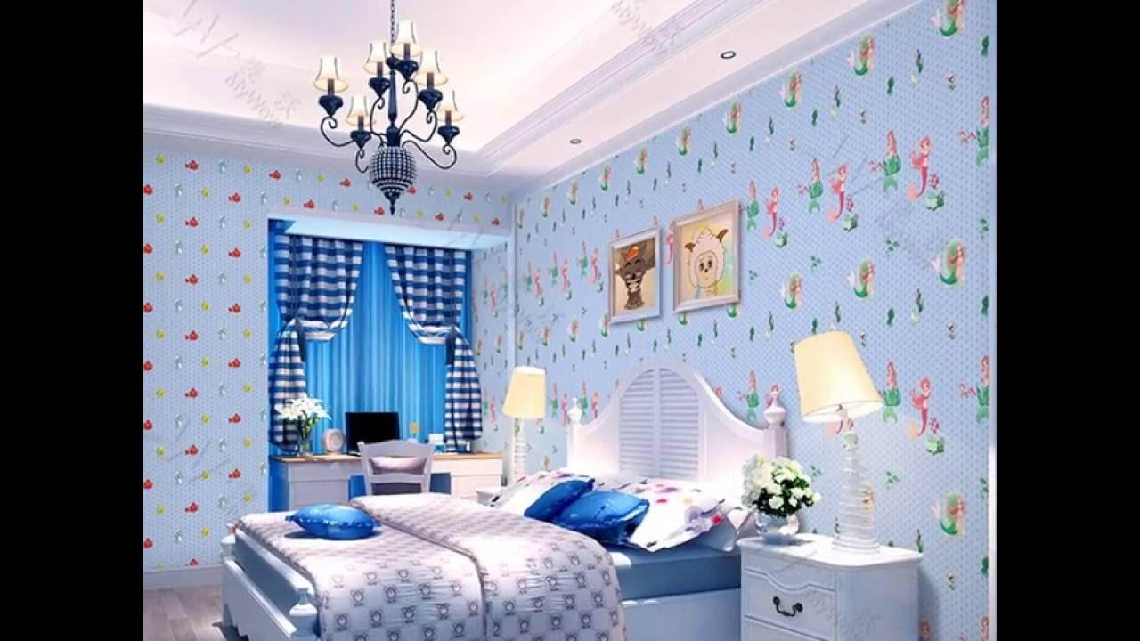 A1-5 Cartoon PVC Wallpaper for Kids\' Room - YouTube