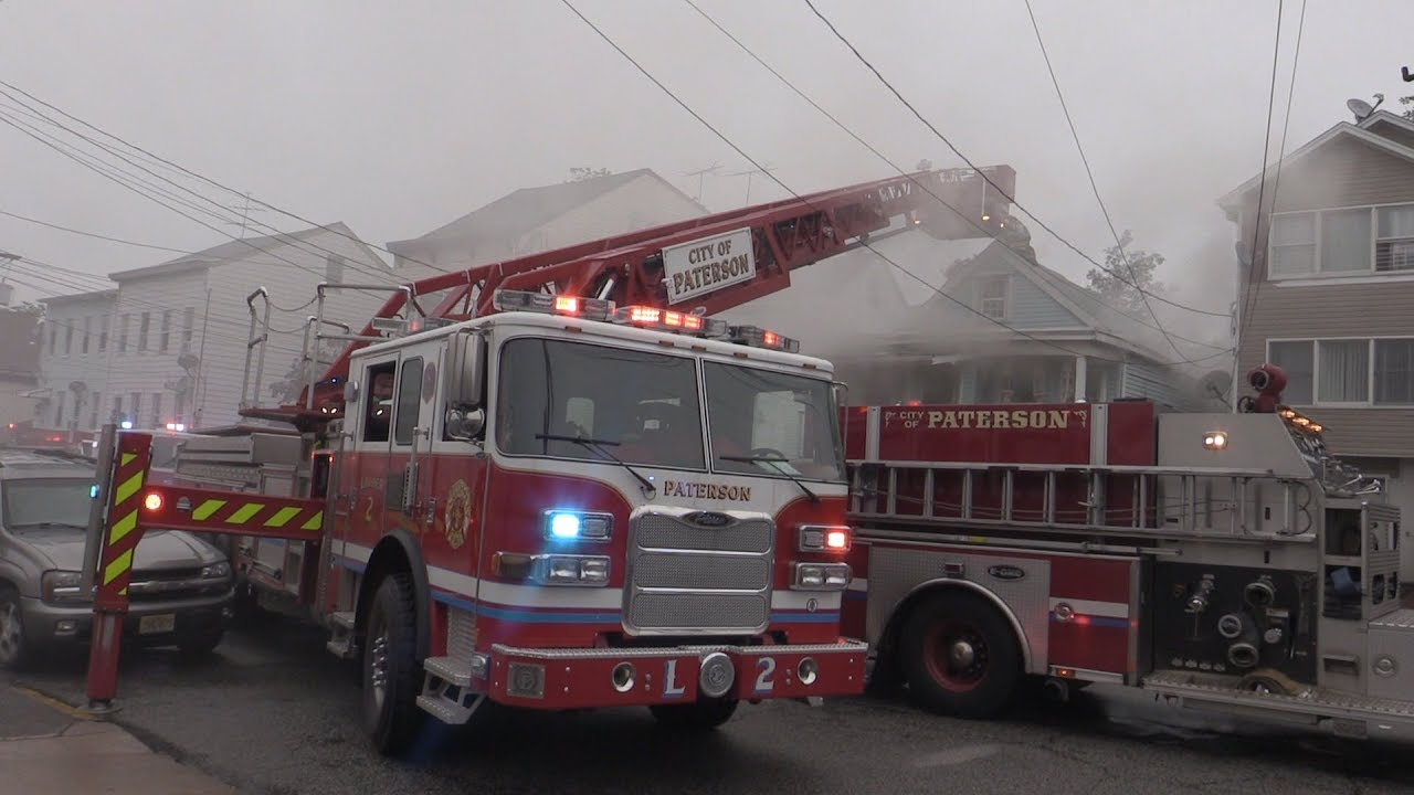 Paterson NJ Fire Department Working Fire 54 Albion Ave Basement Fire in a  1 5 Frame