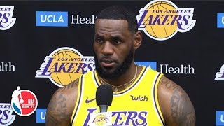 LeBron James excited to play with Anthony Davis, talks Lakers' upcoming season | 2019 NBA Media Day