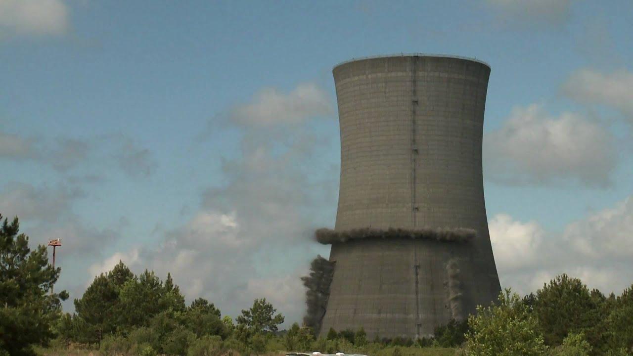 Srs Demolishes Massive Cooling Tower Youtube