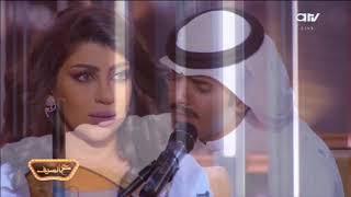 الفنان دريع الهاجري يتسبب في بكاء المذيعة غنيمة دشتي على الهواء في برنامج ع السيف