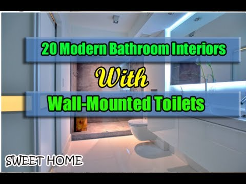 20 Modern Bathroom Interiors With Wall-Mounted Toilets