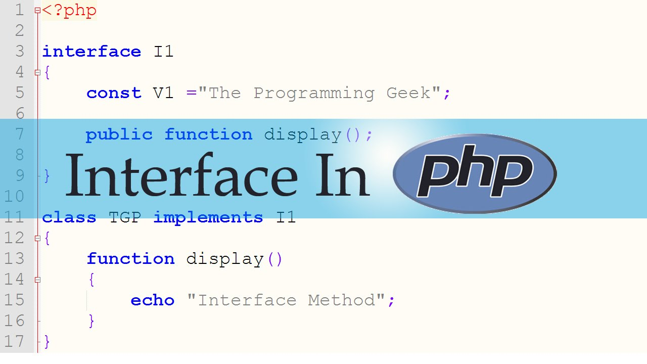 PHP - Interface In PHP (OOP)