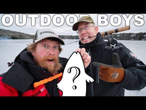 Ice Fishing With The Outdoor Boys in Southern Maine