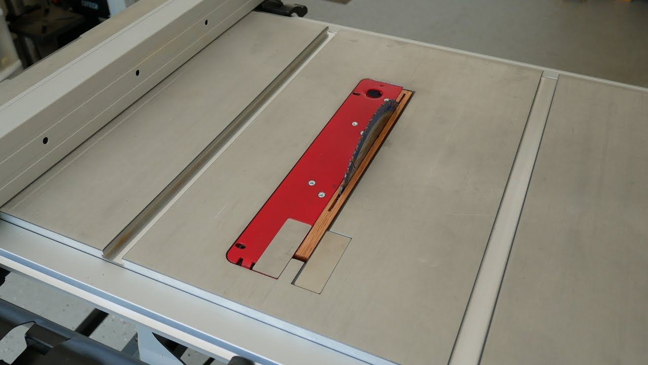 Zero Clearance Throat Plate For A Porter Cable Tablesaw Youtube