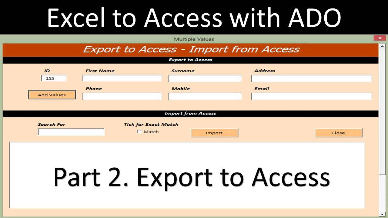 Export from Excel to Access - Online PC Learning