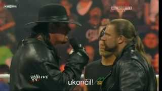 Triple H, Undertaker and Shawn Michaels segment before WM 27 (with czech subtitles)