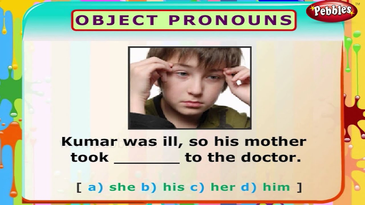 Object Pronouns English Grammar Exercises For Kids English Grammar For Children