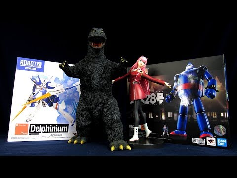 X Plus Godzilla 1965, Robot Spirits Darling In The Franxx Delphinium, SOC Tetsujin-28 Go Unboxing