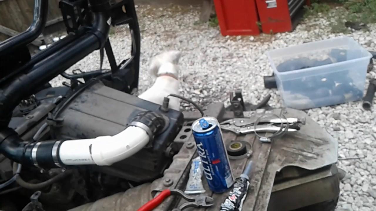 Snorkel Honda Pioneer 500 and water proofing! - YouTube