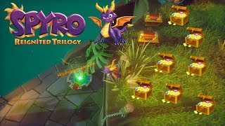 HOW TO GET ABOVE HOME PORTAL LAST TREASURE TREE TOPS (SPYRO REIGNITED) | SPYRO THE DRAGON 4K VIDEO