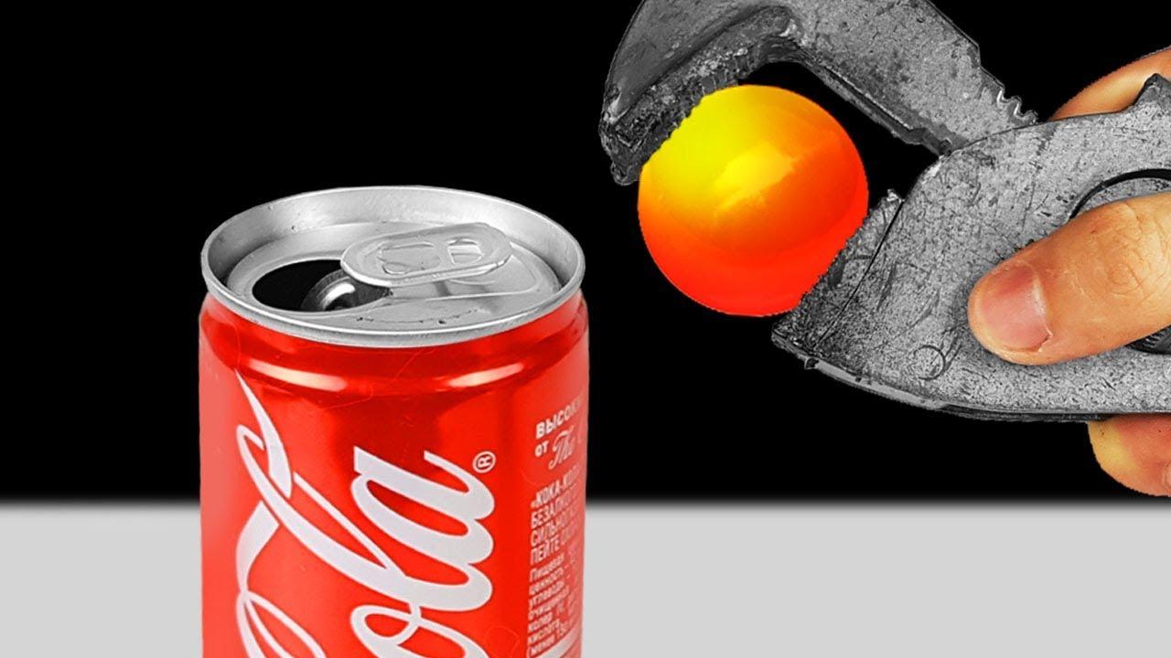 Experiment: Coca-Cola Vs 1000 Glowing Degree Metal Ball