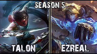 Best Talon Korea vs Ezreal MID Ranked Challenger