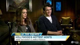 Interview with Oscar Hosts James Franco, Anne Hathaway /Feb 24, 2011