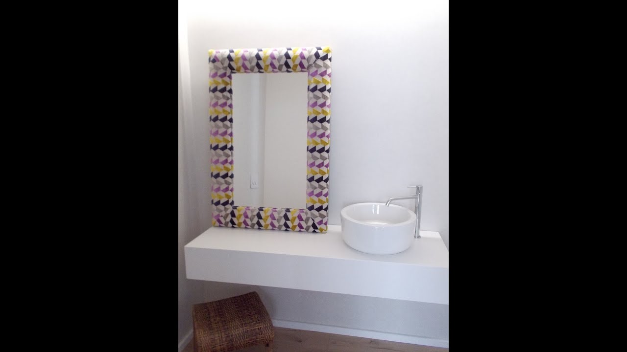 Marco tapizado , renatodecoracion.com - YouTube