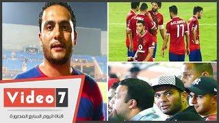 شاهد كيف انفعل حسام غالي علي محمد نجيب بلقاء الوحده الاماراتي .. خش ع الدكش