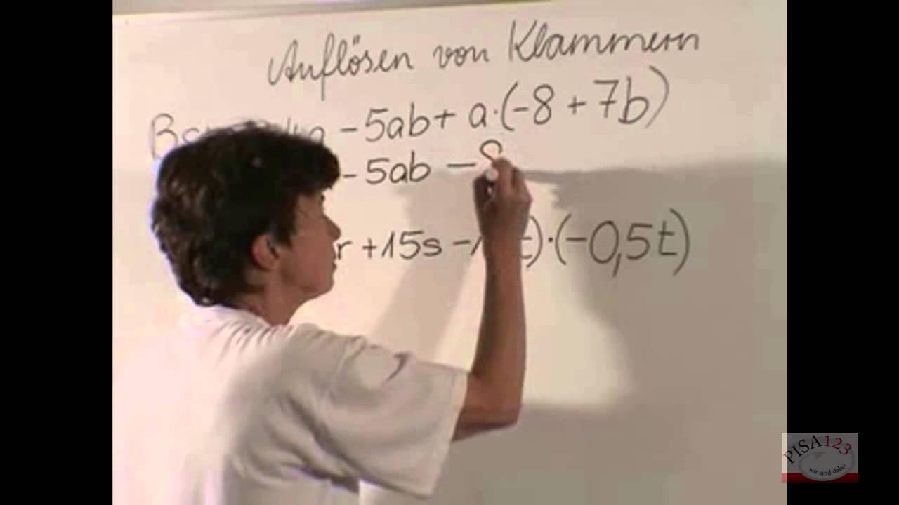 817 - Auflösen von Klammern - Distributivgesetz - YouTube