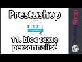Prestashop 1.7 – Module bloc texte personnalisé (ép.11)