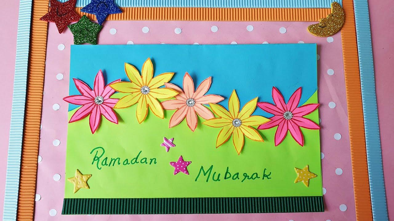 handmade greeting card  ramadan mubarak card  diy