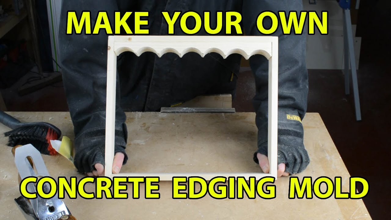 make your own concrete edging part 1 youtube
