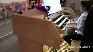 F.-A. Guilmant - 3. Messe Solennelle - Sanctus, Silvia G. & Chor Herz Jesu (Wi