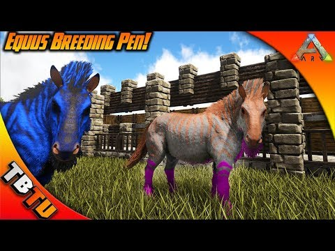 EPIC EQUUS COLOR MUTATIONS AND BREEDING! BEST WAY TO MASS BREED EQUUS! Ark Survival Breeding Evolved