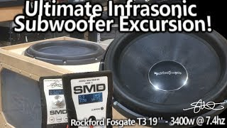ULTIMATE Infrasonic Subwoofer Excursion! Rockford Fosgate T3 19