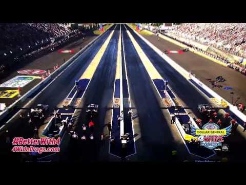 NHRA 4-Wide Racing At ZMAX Dragway!