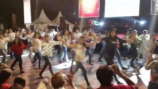 Flash Mob at Diwali Mela, India club Jakarta 2016, Jakarta