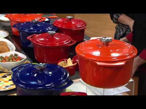 Rachael Ray 5qt Round PorcelainEnamel Cast Iron Dutch Oven With Jane Treacy
