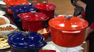 Rachael Ray 5qt Round PorcelainEnamel Cast Iron Dutch Oven with Jane Treacy