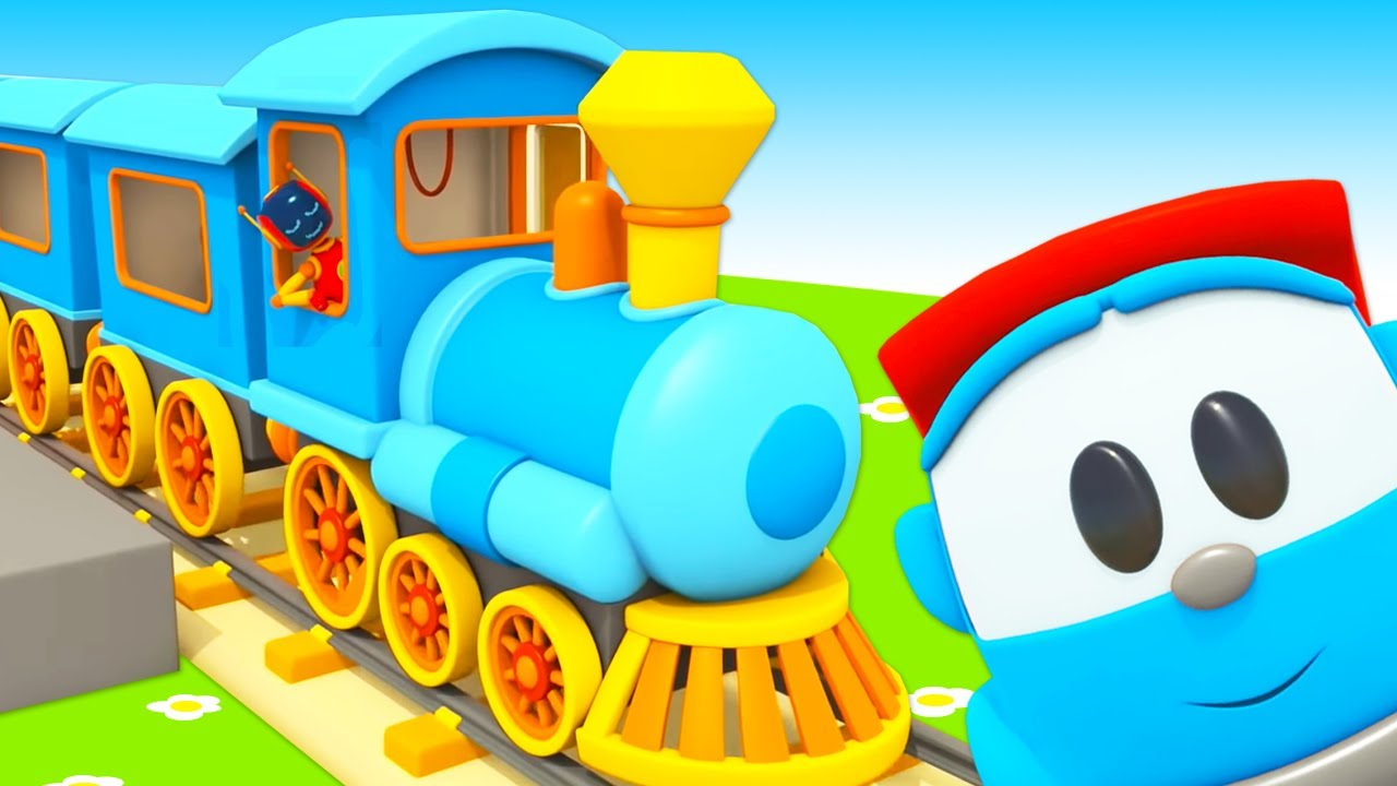 Trains songs for kids! Sing with Leo and learn animal sounds. Super simple songs for children.