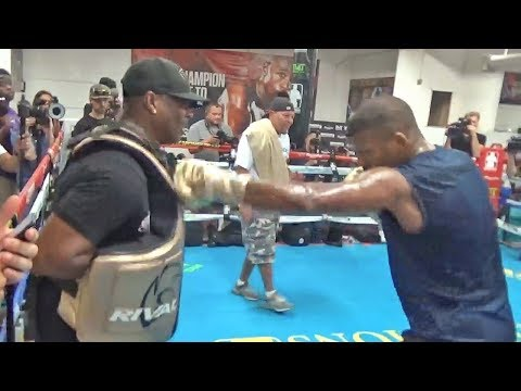 Badou Jack PUBLIC WORKOUT | FIGHTS Nathan Cleverly On Mayweather vs McGregor Undercard