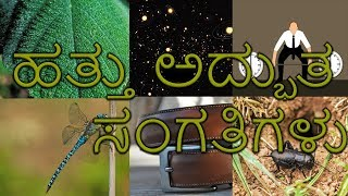 10 amazing  facts  in Kannada