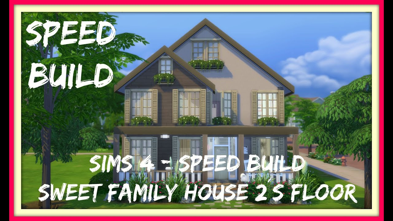 Sims 4 Speed Build Sweet Family House 2 S Floor Youtube