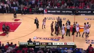 Nazr Mohammed is ejected from Game 3 after pushing LeBron James to the floor