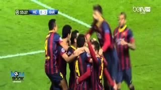 fcb vs man city goals 18 02 2014 hd