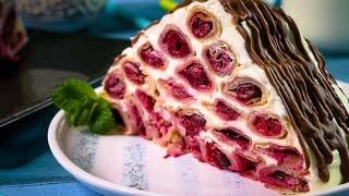 Блинный торт МОНАСТЫРСКАЯ ИЗБА простой рецепт без выпечки