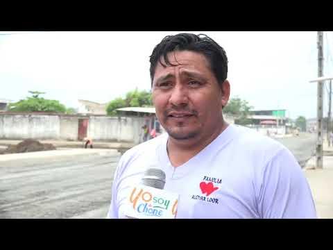 Microinformativo Yo Soy de Chone - Trabajos en calle Salustio Giler