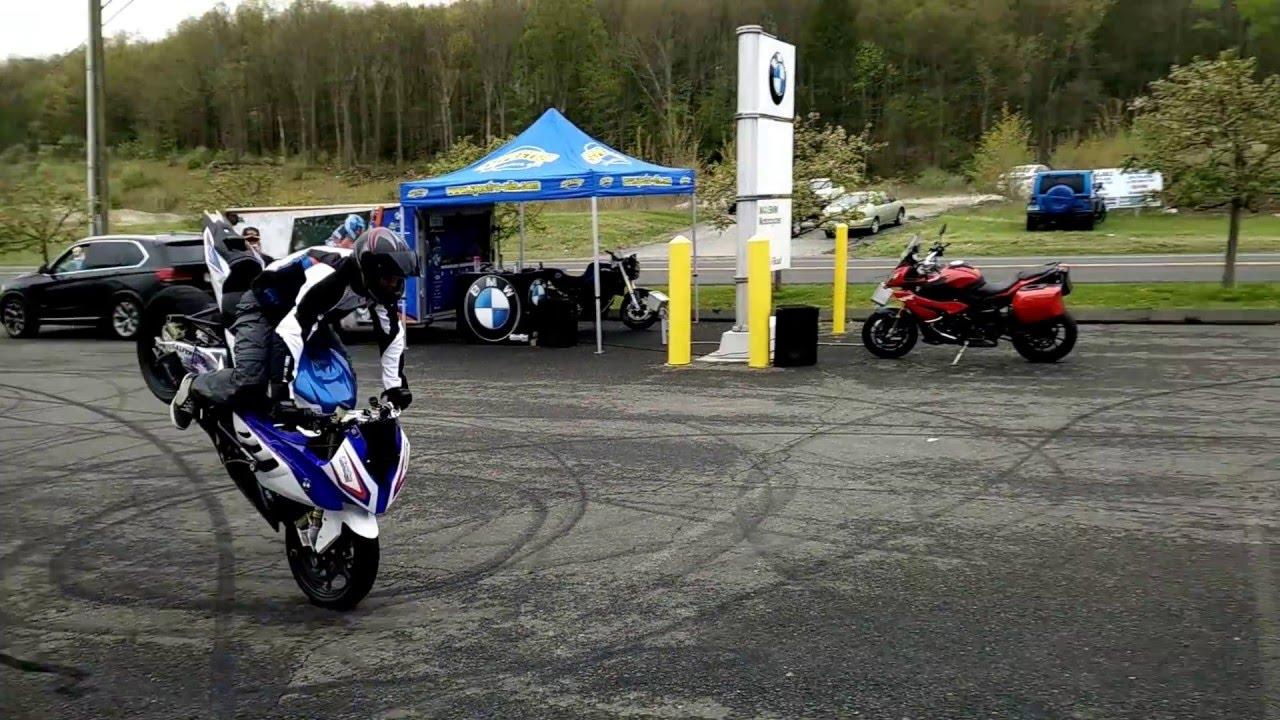"BWM S1000RR stunt demo part 2 - Chris ""Teach"" McNeil @ Max BMW in Brookfield, CT"