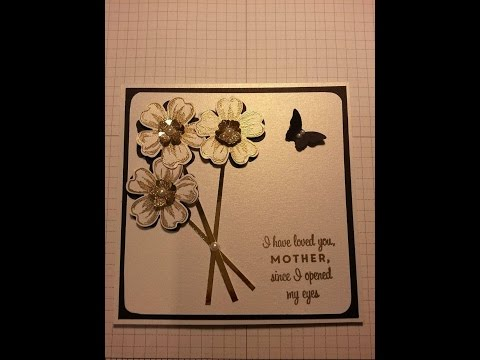 mother's day card using flower shop stampin up