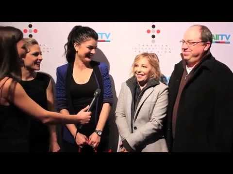 Corner Gas creator and star Brent Butt, with cast members at the Canadian International TV Festival