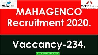 MAHAGENCO Recruitment 2020.Big Opportunity.