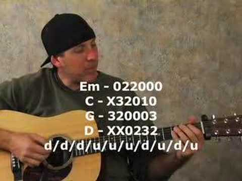 Guitar kanlungan guitar tabs : Beginner acoustic guitar lesson on strumming chords rhythms - YouTube