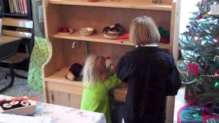 Wooden Play Kitchen For Christmas