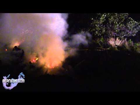 Belmont Golf Course Brush Fire, Nov 29 2012